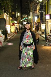 ROBE JAPONICA メンズきもの ドレッシー カラフル ポップ ゼブラ シマウマ しまうま